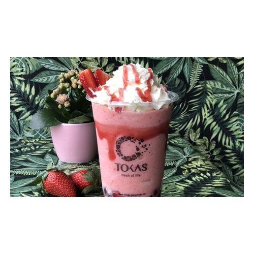 Tokas Bubble Tea Bubble Tea (0,7 l) mit 2 Toppings bei Tokas Bubble Tea (bis zu 32% sparen*)