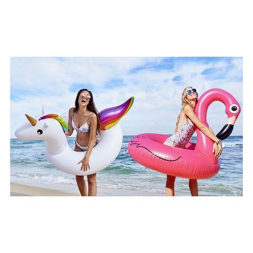 Groupon Goods Global GmbH 1x oder 2x großer Schwimmreifen im Flamingo- oder Einhorn-Desing