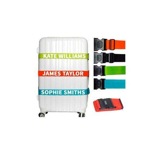 Geschenkemarkt Personalisierter Kofferanhänger oder Koffergurt mit Namen vom Geschenkemarkt (bis zu 77% sparen*)