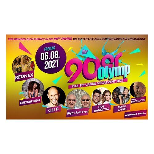 """90er Olymp 2021 1 bis 10 Tickets für das Open Air Festival """"90er Olymp"""" am Fr. 06.08.2021 in Berlin (bis zu 54% sparen)"""