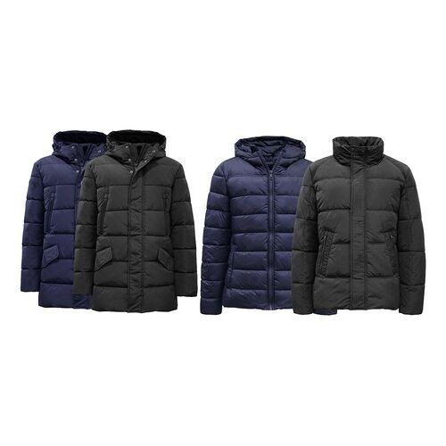 Groupon Goods Global GmbH Herren-Winterjacke in Blau oder Schwarz im Modell und in der Größe nach Wahl