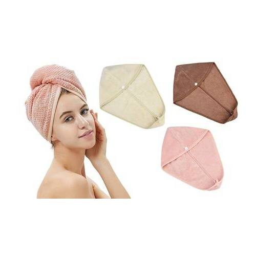Groupon Goods Global GmbH Saugfähiges Haar-Handtuch in der Farbe nach Wahl
