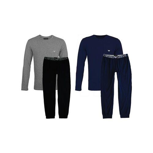 Groupon Goods Global GmbH Armani Pyjama für Herren in Schwarz/Grau oder Navy und in der Größe nach Wahl