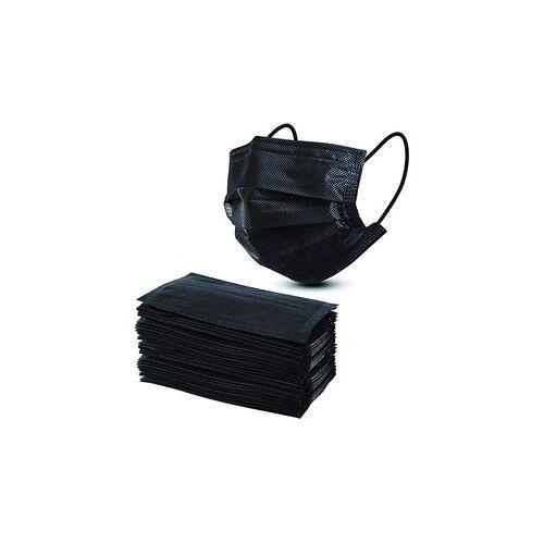 Groupon Goods Global GmbH 10, 20 oder 30 dreilagige Einweg-Gesichtsmasken in Schwarz