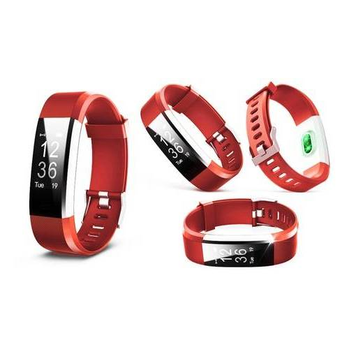 Groupon Goods Global GmbH Aquarius Fitness-Tracker AQ125 in Rot mit Farbbildschirm