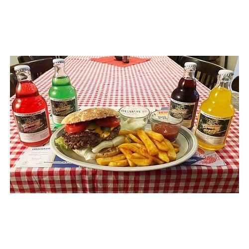 """Speisegaststatte Pila DDR-Burger """"Grilletta"""", Pommes und DDR-Cola oder Limo im Speisegaststätte Pila (bis zu 28% sparen*)"""