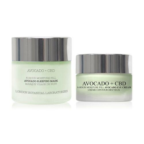 Groupon Goods Global GmbH Avocado und CBD Maske 50 ml und Augencreme 15 ml