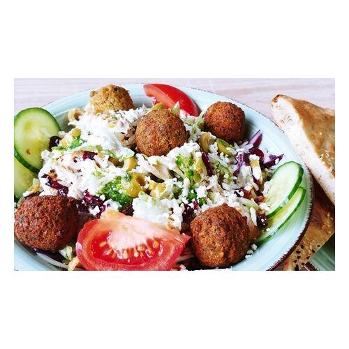 Just Falafels Falafel-Menü, Seitan-Burger- oder Hummus-Platte für 1-2 Personen To Go bei Just Falafels (bis zu 20% sparen*)