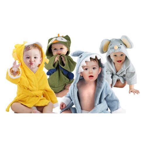 Groupon Goods Global GmbH 1x oder 2x Bademantel für Babys aus reiner Baumwolle im Tiermuster nach Wahl