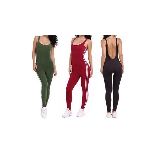Groupon Goods Global GmbH Sportlicher Damen-Jumpsuit in Schwarz, Khaki oder Rot