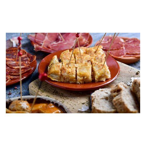 Tapas Arriba Große Tapas-Platte mit Brot, Aioli und Dessert, optional mit Wein, bei Tapas Arriba (bis zu 30% sparen*)