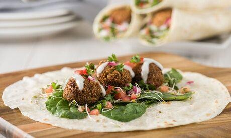 Kebablove Veganer Cigköftem-Wrap oder vegetarischer Falafel-Dürum für 1 bis 4 Personen bei Kebablove (bis zu 41% sparen*)