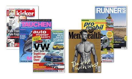 Eventus Media GmbH Zeitschriften-Abo für kicker, Tauchen, Auto Motor Sport, Men's Health, Promobil oder Runner's World mit Bar-Prämie