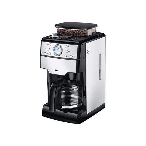 AEG Wie neu: AEG KAM400 Kaffeemaschine mit Mahlwerk   silber/schwarz