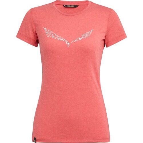 Salewa Solid Dry'ton W T-shirt rouge red melange (1535) 40