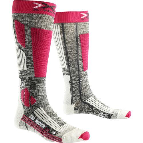 X-Socks Ski Rider 2.0 Socks Lady grey melange/fuchsia 35 - 36