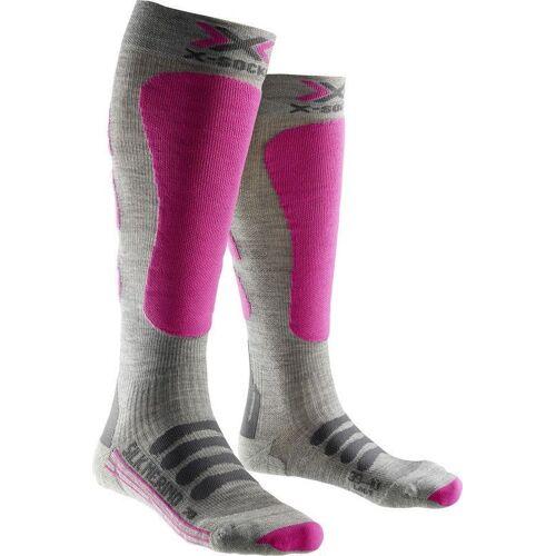 X-Socks Ski Silk Merino Socks Lady greyfuchsia 41 - 42