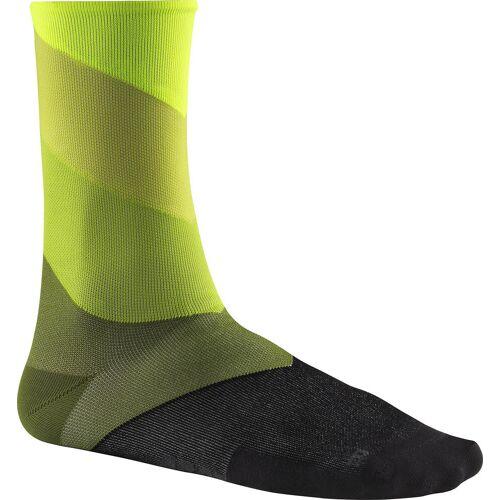 Mavic Graphic Stripes Socks yellow-cactus 3538