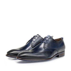 Floris Van Bommel Schnürschuh Kalbsleder dunkelblau, Business Schuhe, Handgefertigt