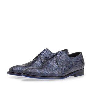 Floris Van Bommel Schnürschuh metallic blau, Business Schuhe, Handgefertigt