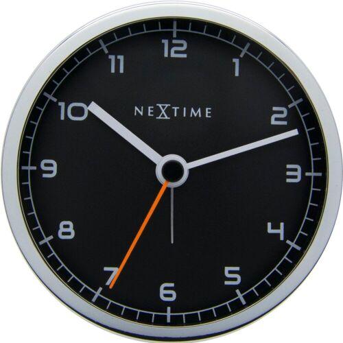 NeXtime Company Alarm Wecker schwarz/silber