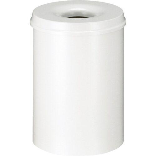 Benton Perkament 30L feuerfester Papierkorb weiß