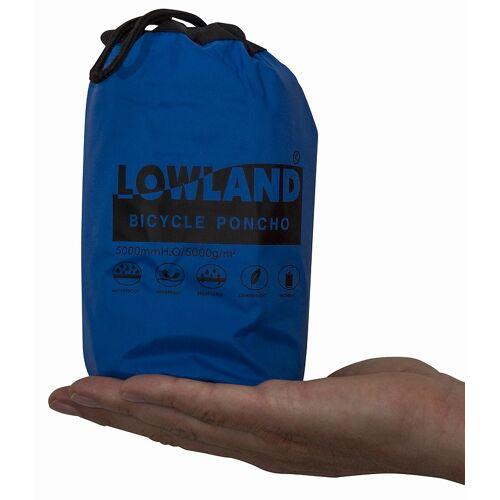 Lowland Fahrrad Poncho blau