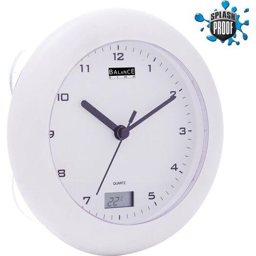 Balance Time Badezimmeruhr mit Thermometer weiß
