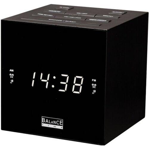 Balance Time Cube Radiowecker schwarz