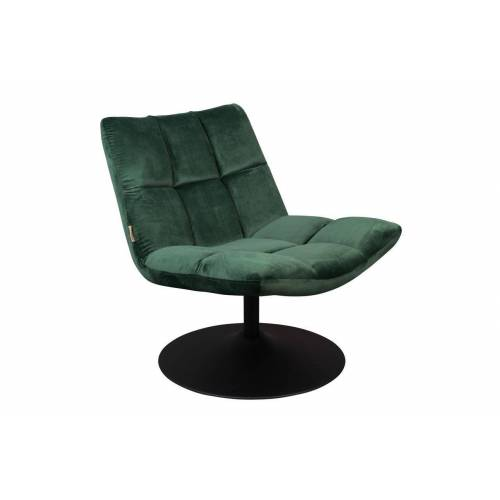 Dutch Bone Lounge-Sessel Bar aus grünem Samt