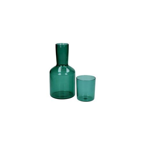 Pomax Duo aus Glas und Glaskaraffe Lasi