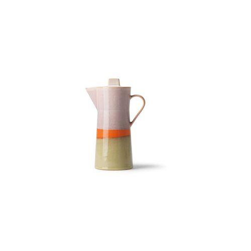 HK Living Keramische 70er Jahre Kaffeekanne