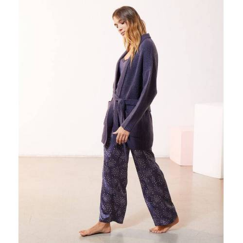 Etam Pyjama 3 pièces en maille et satin