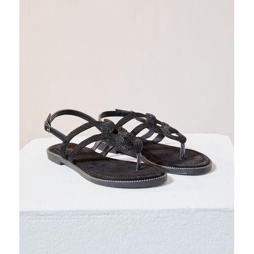 Etam Flache geflochtene sandalen