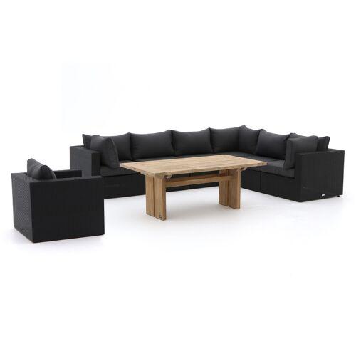 Forza Gartenmöbel Forza Barolo/ROUGH-L Esstisch Lounge-Set 8-teilig  Braun