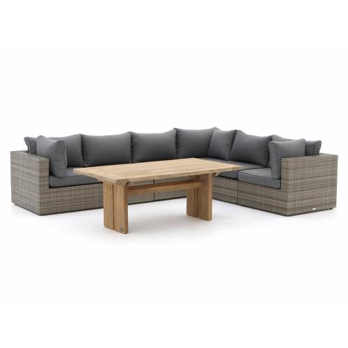 Forza Gartenmöbel Forza Barolo/ROUGH-L Esstisch Lounge-Set 7-teilig  Grau