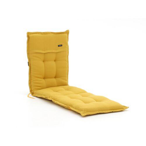 Madison Gartenliege Auflage 200x65 cm  Gelb