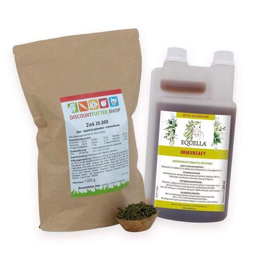 Zink 20.000 (1kg) & EQUELLA Immunsaft (1 Liter)