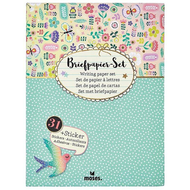 moses Verlag Briefpapier-Set FLOWERS & FRIENDS