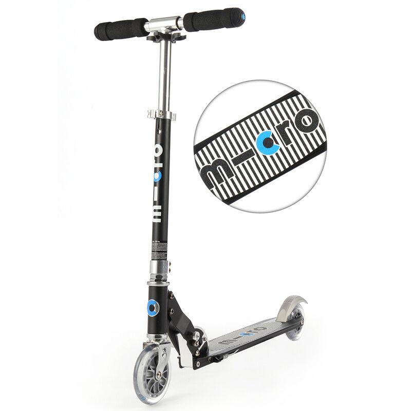 micro Kinder-Scooter MICRO SPRITE – SPECIAL EDITION gestreift in schwarz