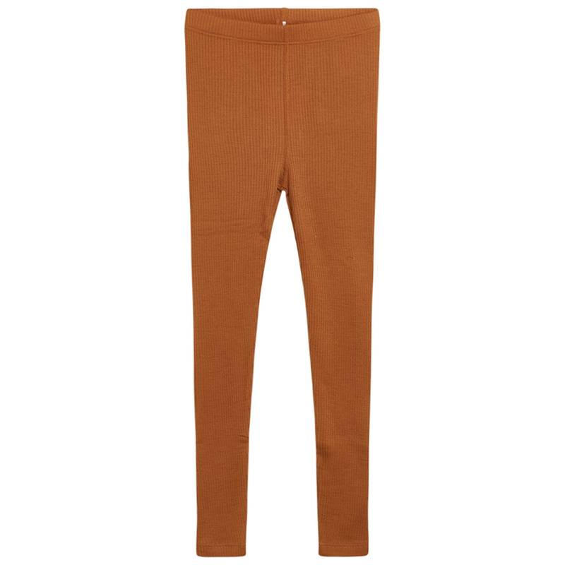 Hust & Claire Leggings LANE mit Wolle in terracotta