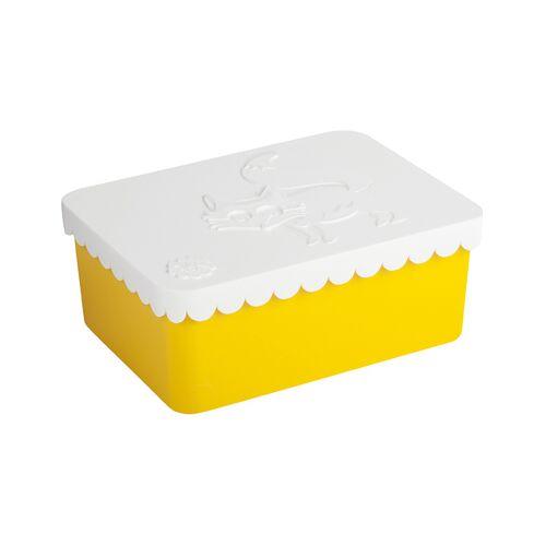 Blafre Brotdose FUCHS in weiß/gelb