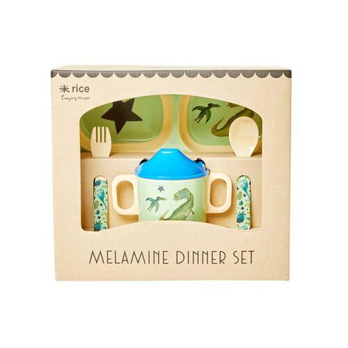 rice Melamin-Geschirrset BABY DINNER – DINO 4-teilig