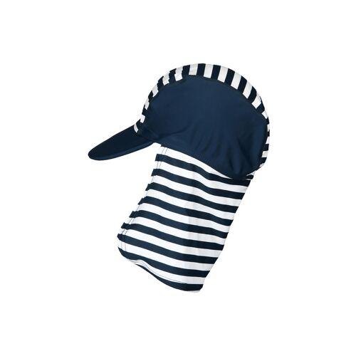 Playshoes Bademütze mit Schirm und Nackenschutz, blau (Größe: 53)