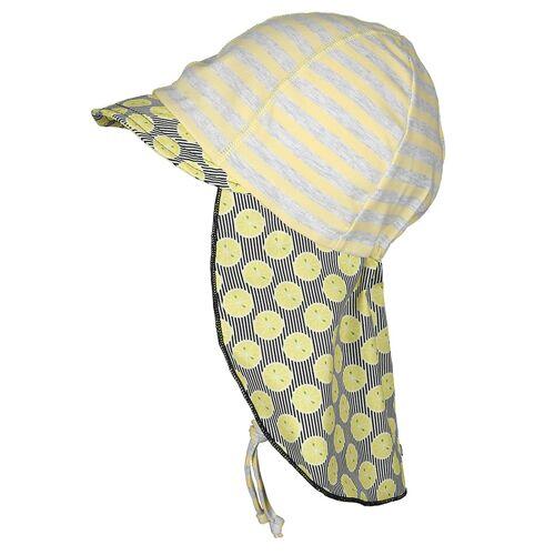 maximo Schirmmütze SÜßE ZITRONEN in gelb/grau