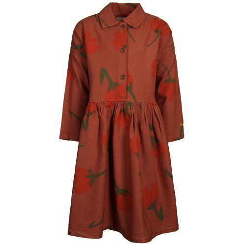 Bobo Choses Kleid BIG FLOWERS – TANDOORI SPICE in rotbraun