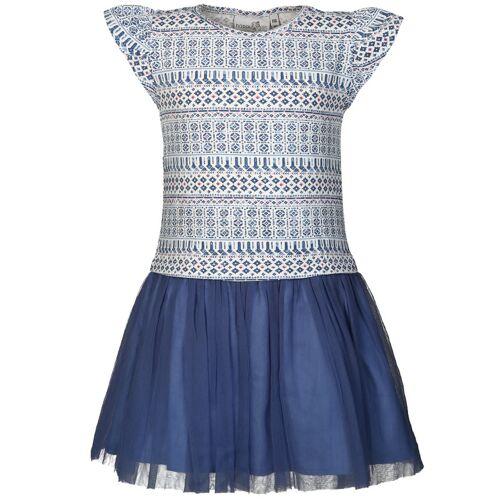 happy girls Kleid MAROKKANISCHE mit Tüll in blau/weiß