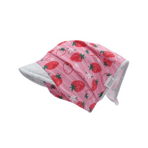 maximo Kopftuch ERDBEEREN mit Schirm in rosa