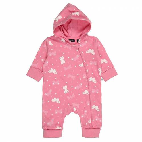 BLUE SEVEN Sweat-Overall FARFALLA AOP mit Kapuze in pink