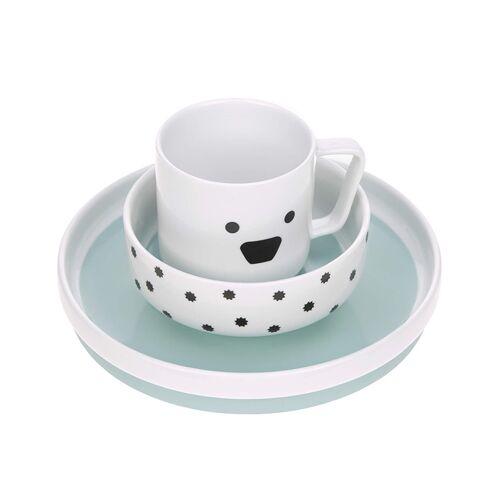 Lässig Porzellan-Geschirrset LITTLE CHUMS – DOG 3-teilig in weiß
